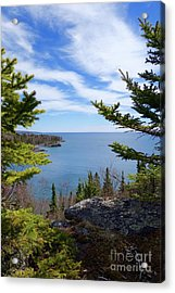 Cliff Top View Acrylic Print by Sandra Updyke