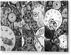 Clockworks Still Life Acrylic Print by Tom Mc Nemar