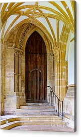 Cloisters, Wells Cathedral Acrylic Print