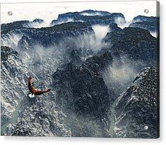 Cloud Canyon Acrylic Print by Jim Coe