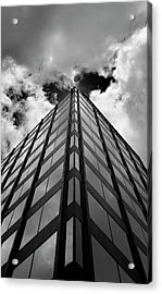 Clouds And Office Building Midtown Acrylic Print by Robert Ullmann