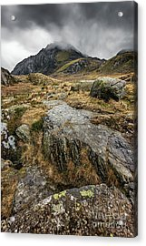 Clouds Over Tryfan Acrylic Print by Adrian Evans