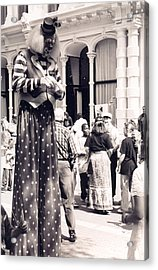 Clown At Work Acrylic Print
