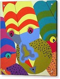 Clowns Acrylic Print by Tammera Malicki-Wong