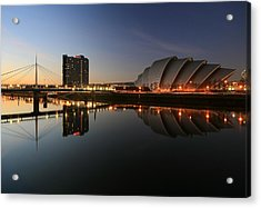 Clydeside Reflections  Acrylic Print by Grant Glendinning