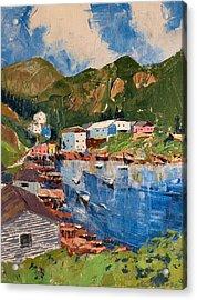 Coastal Village, Newfoundland Acrylic Print