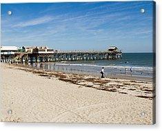 Cocoa Beach In Florida Acrylic Print by Allan  Hughes