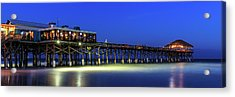 Cocoa Beach Pier At Twilight Acrylic Print