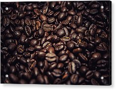 Acrylic Print featuring the photograph Coffee Beans by Ryan Wyckoff