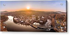 Colinsville, Connecticut Sunrise Panorama Acrylic Print by Petr Hejl