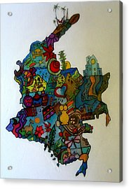 Colombia Acrylic Print by MikAn 'sArt
