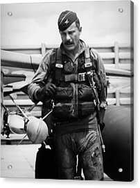 Colonel Robin Olds Acrylic Print by War Is Hell Store