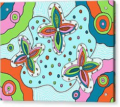 Acrylic Print featuring the drawing Color Collision by Jill Lenzmeier