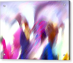 Color Dance Acrylic Print by Anil Nene