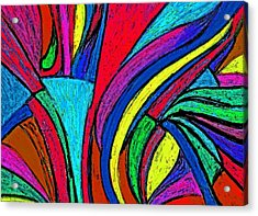 Color Flow Acrylic Print by Cassandra Donnelly
