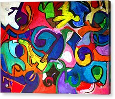 Color Shape Study Acrylic Print by Jame Hayes