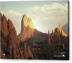 Acrylic Print featuring the photograph Colorado Garden Of The Gods Landscape by Andrea Hazel Ihlefeld