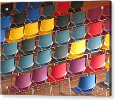 Colorful Chairs Acrylic Print