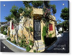Colorful House In Plaka Acrylic Print by George Atsametakis