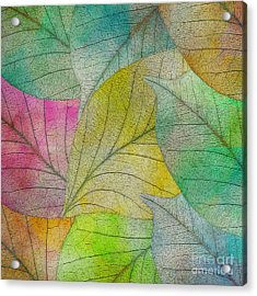 Acrylic Print featuring the digital art Colorful Leaves by Klara Acel
