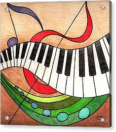 Colorful Music Acrylic Print by Michelle Young