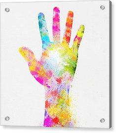 Colorful Painting Of Hand Acrylic Print by Setsiri Silapasuwanchai