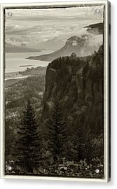 Acrylic Print featuring the photograph Columbia River Gorge by Angie Vogel