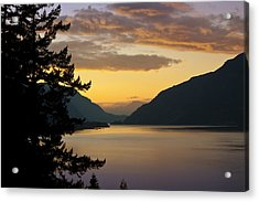 Columbia River Sunset Acrylic Print