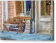 Come Sit A Spell Acrylic Print by Ron Stephens