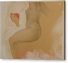 Composite Female Nude Acrylic Print by Gary Kaemmer