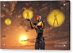 Concept Illustrating Mankind Becoming Acrylic Print