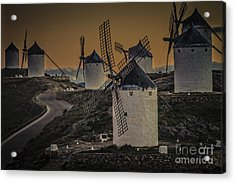 Acrylic Print featuring the photograph Consuegra Windmills 2 by Heiko Koehrer-Wagner