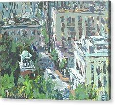 Contemporary Richmond Virginia Cityscape Painting Acrylic Print