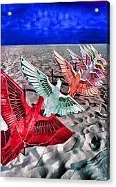 Copacabana Kites Acrylic Print by Dennis Cox WorldViews