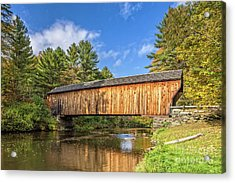 Acrylic Print featuring the photograph Corbin Covered Bridge Newport New Hampshire by Edward Fielding