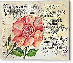 1 Corinthians 13 Acrylic Print by Dave Wood