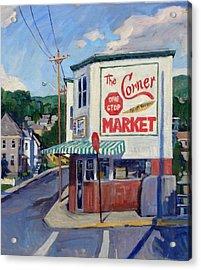 Corner Market Acrylic Print by Thor Wickstrom