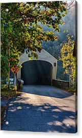 Acrylic Print featuring the photograph Cornish-windsor Covered Bridge by Jeff Folger