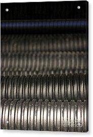 Corrugated Drain Pipe-deep Acrylic Print