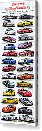 Corvette Box Of Candies - Special Edition And Indy 500 Pace Car Corvettes Acrylic Print