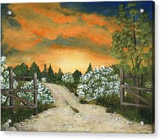 Country Road Acrylic Print by Anastasiya Malakhova