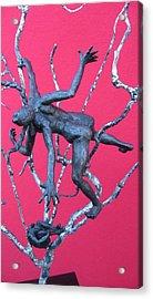 Courting The Black Widow Acrylic Print by Ayla Corstanje-uncu