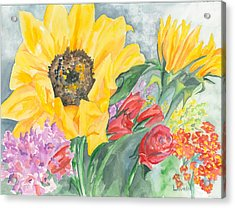Courtney's Sunflower Acrylic Print by Kimberly Lavelle