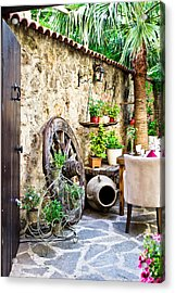 Courtyard Acrylic Print by Tom Gowanlock