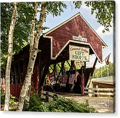 Covered Bridge Gift Shoppe Acrylic Print by Sherman Perry