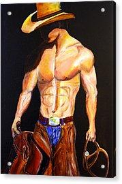 Cowboy  Acrylic Print by Jennifer Godshalk
