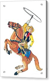 Cowboy With Lasso Acrylic Print
