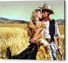 Cowboy's Romance Acrylic Print