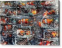 Crab Pots Acrylic Print by Brandon Bourdages