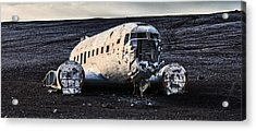 Acrylic Print featuring the photograph Crashed Dc-3 by James Billings